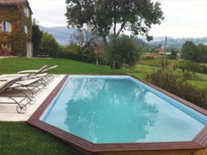 zwembad houten Gardipool model Rectoo