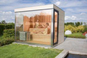 buitensauna gebouw glas