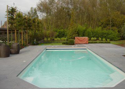Zwembad wit epoxy